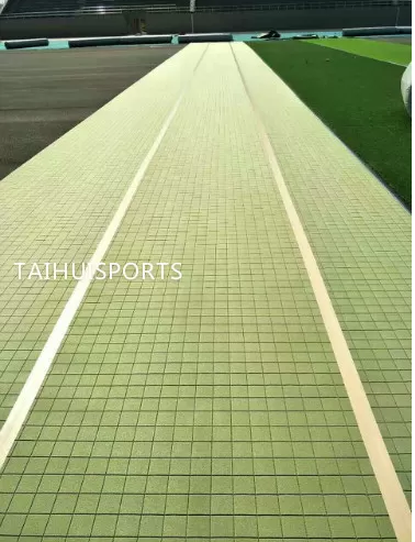 Double-Sided Grooved Artificial Turf/Grass Shock Pads Underlay Recycling High 10-30 mm thickness Long Life Span