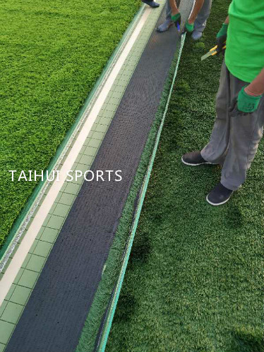 Double-Sided Grooved Artificial Turf/Grass Shock Pads Underlay Recycling High 10-30 mm  thickness Long Life Span 2